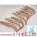 GAMBAS BLANCAS EXTRA GRANDES COCIDAS 1/4 kg