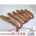LANGOSTINOS TIGRES EXTRA GRANDES COCIDOS 1/2KG
