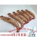 LANGOSTINOS TIGRES EXTRA GRANDES COCIDOS 1/4 KG