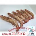 LANGOSTINOS TIGRES  GRANDES COCIDOS 1/2 KG