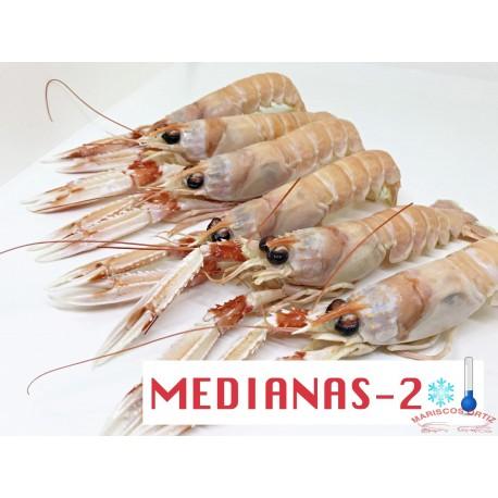 CIGALAS  MEDIANAS 2 CRUDAS CONGELADAS